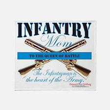 infantry mom Throw Blanket