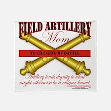 2-feild artillery mom Throw Blanket