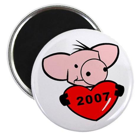 """""""2007 - Pig Love"""" 2.25"""" Magnet (10 pack)"""