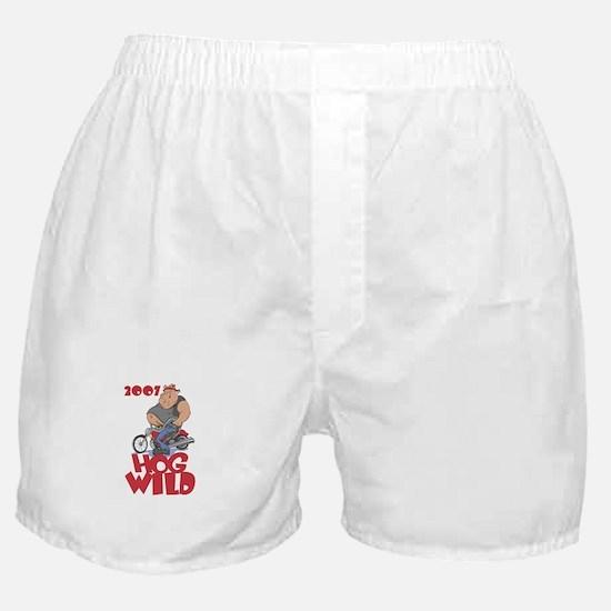 """""""2007 - Hog Wild"""" Boxer Shorts"""