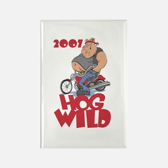 """""""2007 - Hog Wild"""" Rectangle Magnet"""