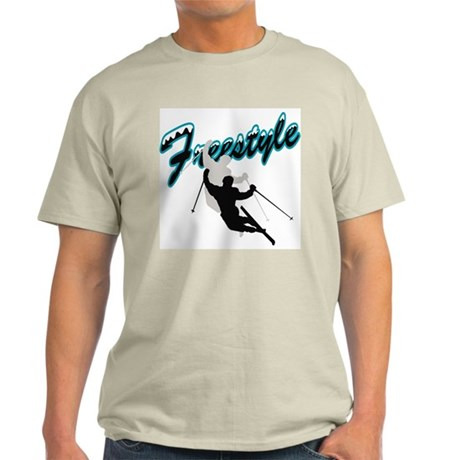 Freestyle Skiing Ash Grey T-Shirt