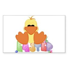Easter Duck Rectangle Decal
