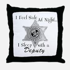 Cute Sheriff k9 Throw Pillow