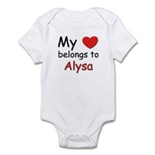 My heart belongs to alysa Onesie