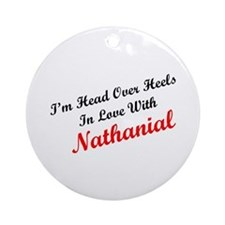 In Love with Nathanial Ornament (Round)