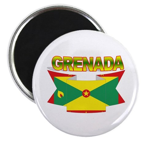 Grenada Flag Ribbon Magnet