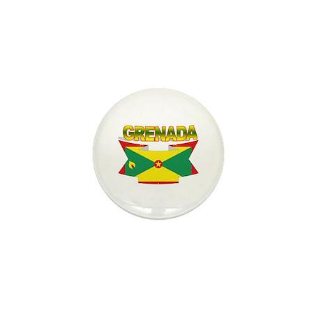 Grenada Flag Ribbon Mini Button