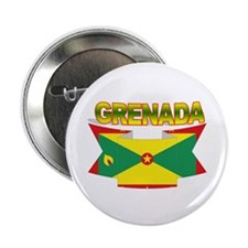 Grenada Flag Ribbon Button