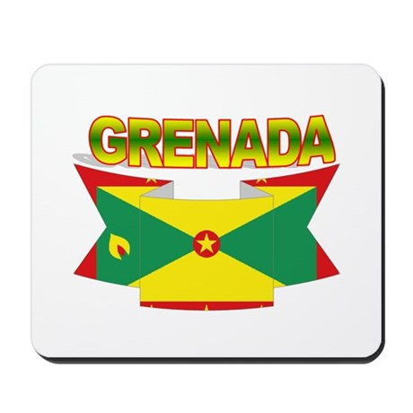 Grenada Flag Ribbon Mousepad
