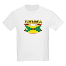 Grenada Flag Ribbon Kids T-Shirt