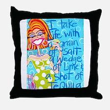 Tequila Goddess Throw Pillow