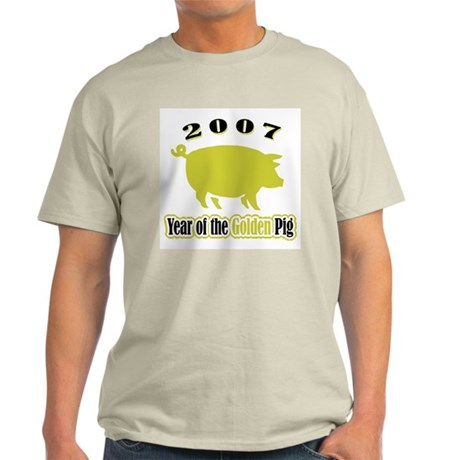"""2007 - Golden Pig"" Ash Grey T-Shirt"