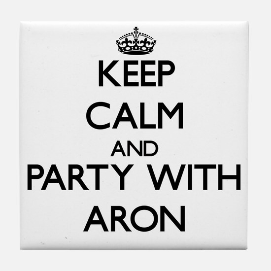 Keep Calm and Party with Aron Tile Coaster