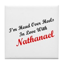 In Love with Nathanael Tile Coaster