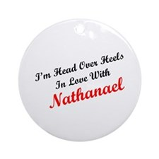 In Love with Nathanael Ornament (Round)