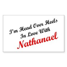 In Love with Nathanael Rectangle Decal
