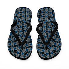 kaleido art blue boxes Flip Flops