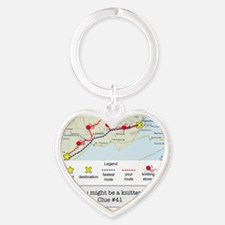 planning a trip Heart Keychain