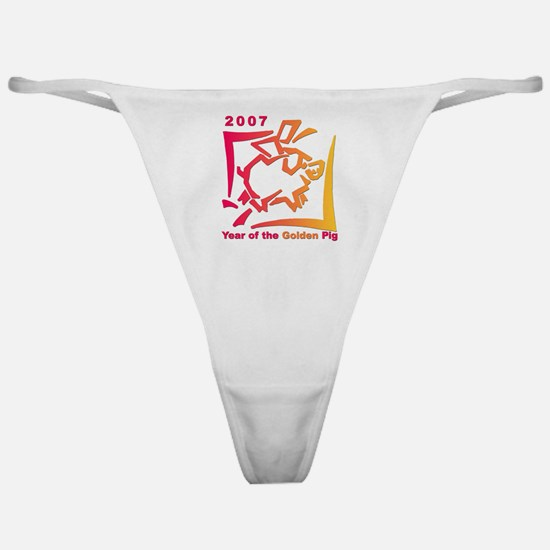 """2007 - Year of the Golden Pi Classic Thong"