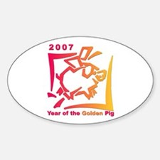 """2007 - Year of the Golden Pi Oval Decal"