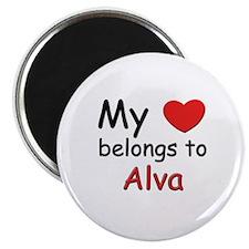 My heart belongs to alva Magnet