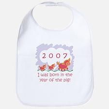 """2007 - Baby Pigs"" Bib"