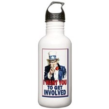 11x17_unclesam_get inv Water Bottle