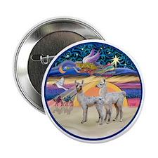 "R-Xmas Star - Two Baby Llamas 2.25"" Button"