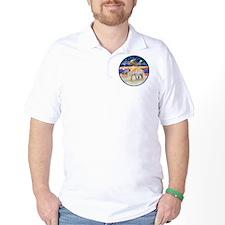 R-Xmas Star - Two Baby Llamas T-Shirt