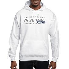 Proud Navy Mom (blue) Hoodie