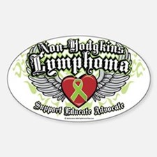 NH-Lymphoma-Wings Sticker (Oval)