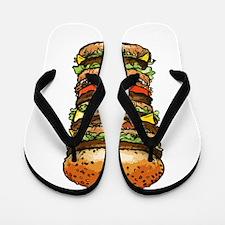 hamburger life and joy Flip Flops