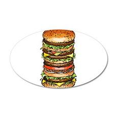 hamburger life and joy Decal Wall Sticker