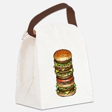 hamburger life and joy Canvas Lunch Bag