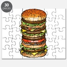 hamburger life and joy Puzzle