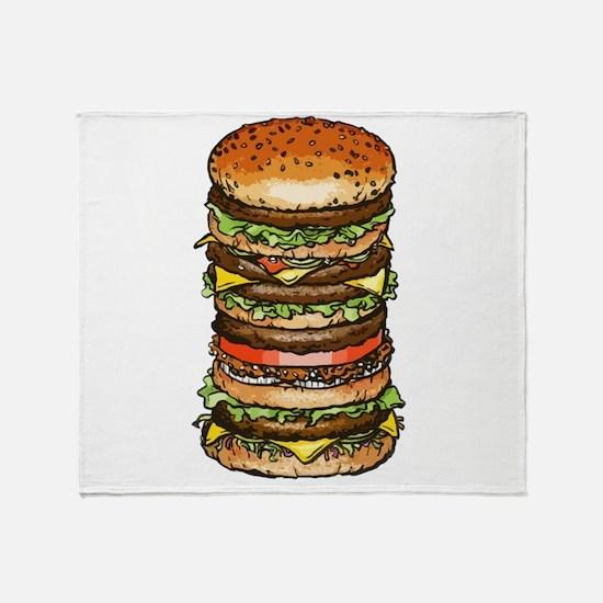hamburger life and joy Throw Blanket