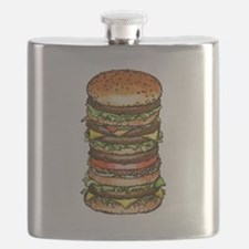 hamburger life and joy Flask