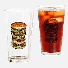 hamburger life and joy Drinking Glass