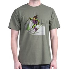Female Skier T-Shirt