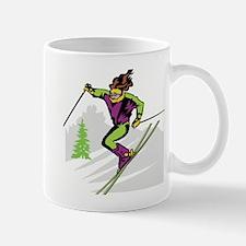 Female Skier Mug