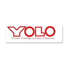 YOLO2pngred Car Magnet 10 x 3