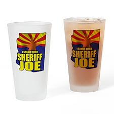 sheriff_joe_shirt_cp Drinking Glass