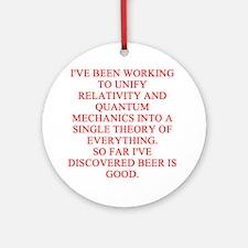 physics joke Ornament (Round)