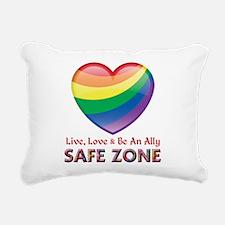 Safe Zone - Ally Rectangular Canvas Pillow