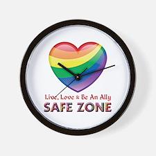 Safe Zone - Ally Wall Clock