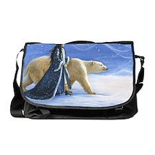 SNOW PRINCESS_POSTER Messenger Bag