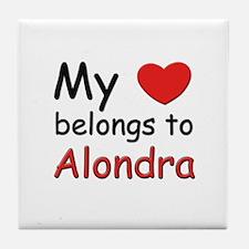 My heart belongs to alondra Tile Coaster