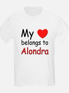 My heart belongs to alondra Kids T-Shirt