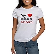 My heart belongs to alondra Tee